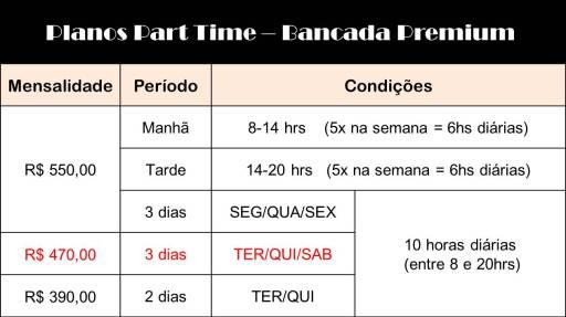 tabela part time premium